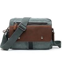 Messenger Bag Men Canvas Military Small Size Crossbody Bags For Men Antitheft Vintage Men Canvas Handbags Outdoor Sports