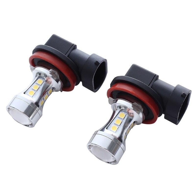 2PS H11-18SMD330 H11 LED Fog Light Bulb DC12-24V 5W 600LM Turn Signal Super Bright Headlight High Quality
