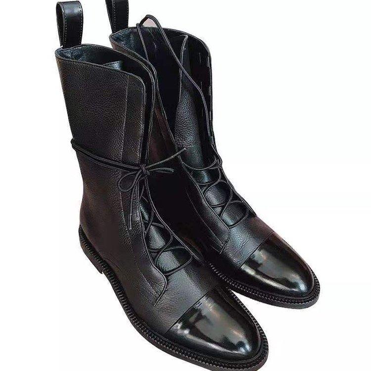 Oymlghot женские ботинки до середины икры с кожаным носком длиной