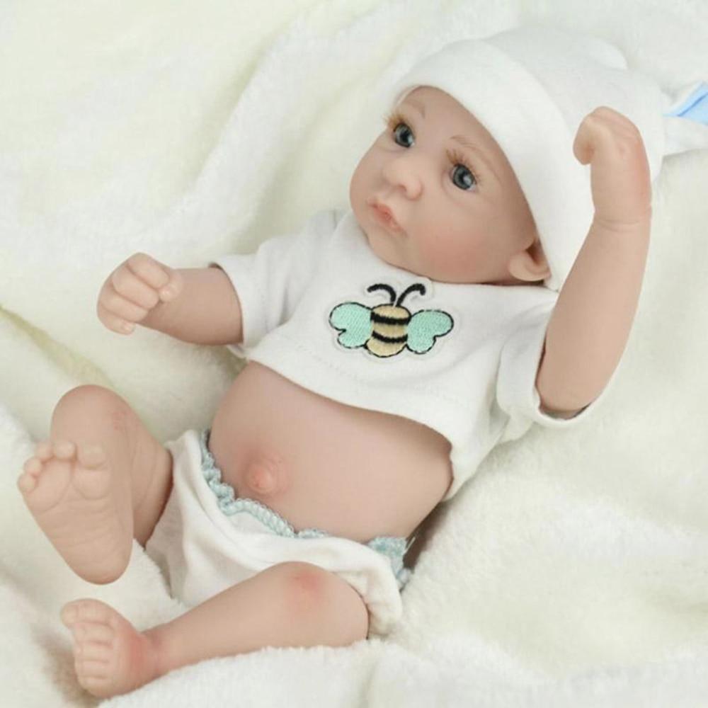 26cm Reborn Baby Puppe Baby Boy Newborn Spielzeug für Mädchen Geburtstag Geschenk Silikon Vinyl Nette Playmate Weihnachten geschenk für mädchen