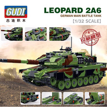 1043pcs 1/32 scale LEOPARD 2A6 GERMAN MAIN BATTLE TANK Building Blocks large collection military toys gifts for kids Brinquedos(China)