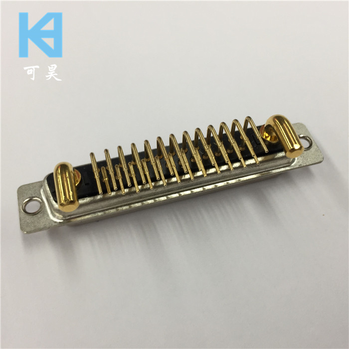 27W2 Female Socket Bent High Current D-SUB Connector 25 + 2 Core Female Socket