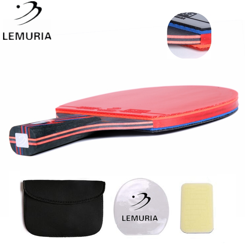 Lemuria Professional Carbon Fiber Table Tennis Racket With Double Face Pimples-in Table Tennis Rubber FL CS Handle Ping Pong Bat