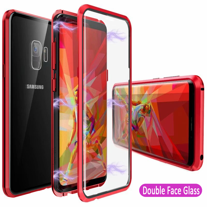 360 <font><b>Case</b></font> For <font><b>Samsung</b></font> Galaxy A50 A20 A30 A70 Full Protection Magnetic Metal <font><b>Case</b></font> On <font><b>A</b></font> 50 20 30 <font><b>70</b></font> Front Back Tempered <font><b>glass</b></font> Cover image