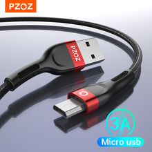 Micro-Usb-Cable Fast-Charging PZOZ Xiaomi Redmi Android Samsung Note-5 3A for S7 Pro