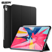 ESR Case for iPad Pro 11 2018 Rubber Oil Cover PU Leather Ultra Slim Fit Yippee Color Trifold Smart Case for iPad Pro 2018 11
