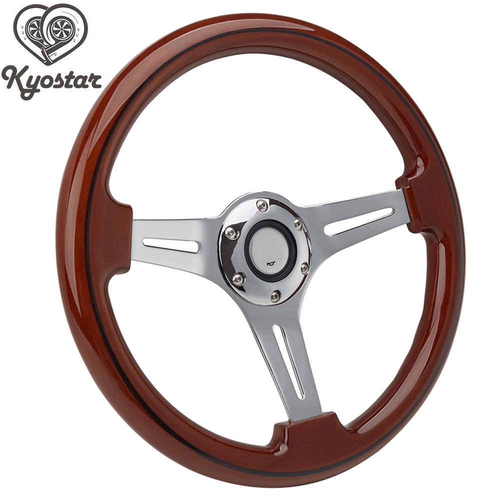 14 Inch Classic Wood Steering Wheel 350mm Universal NEW