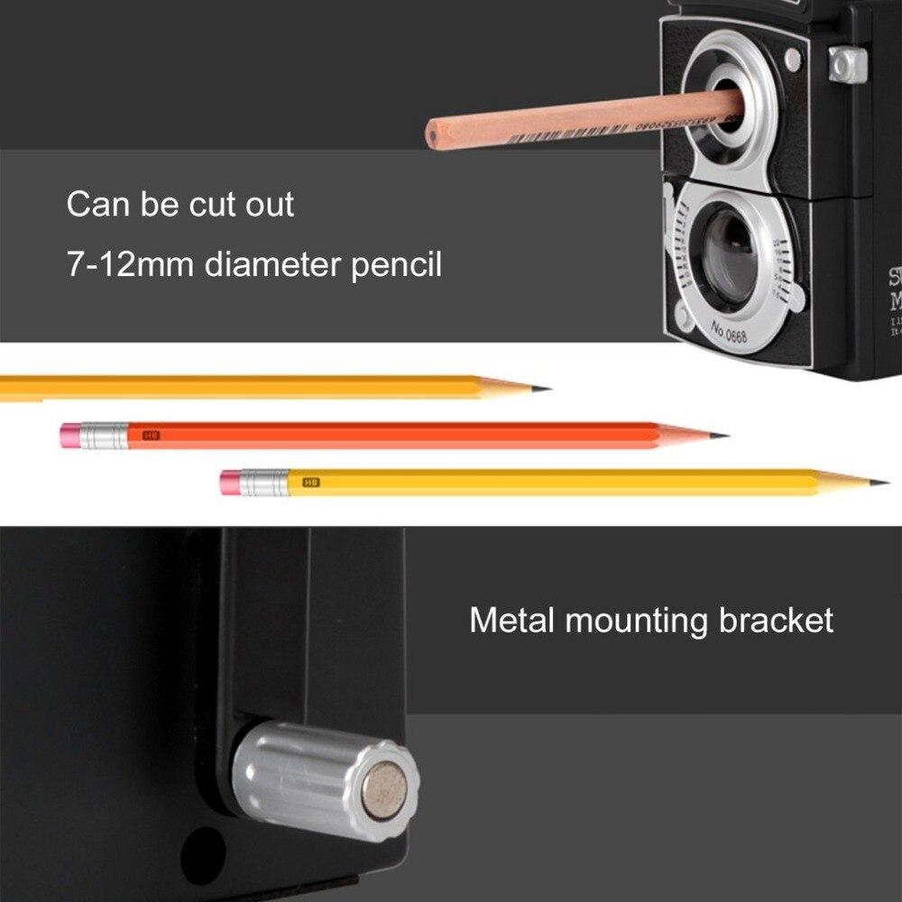 afilado manual y el/éctrico libre de transformaci/ón 6 /– 8 mm negro 2,4L /× 2,4W /× 2,8H Sacapuntas el/éctrico l/ápices de colores a bater/ía en escuela//aula//oficina//casa
