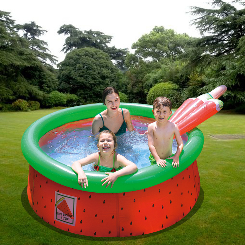Hot Eco-friendly PVC Swimming Pool Round Watermelon Children Inflatable Baby Bathtub Thicken PVC Party Game Swimming Pool Float
