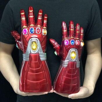 LED Iron Man Gloves Infinity Gauntlet Hulk Cosplay Endgame Arm Thanos Kid Adult Arms Mask Superhero Weapon Party Props