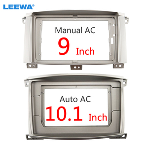 "Image 1 - LEEWA Auto Audio Radio 9 ""/10.1"" Big Screen 2DIN Fascia Rahmen Adapter Für LAND CRUISER 100 DVD player Dash Montage Panel Rahmen Kit"
