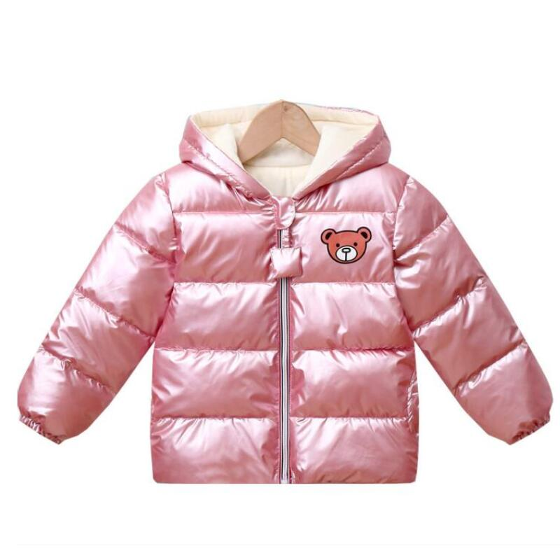 New Boys Girls Clothes Kids Casual Hooded Down Coats Autumn Winter Warm Fashion Outwear Children Solid Jacket For 2-6 Years 4