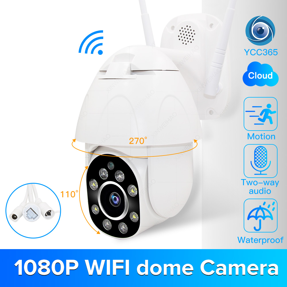 1080P PTZ WIFI Camera 2MP Auto Tracking Waterproof CCTV Home Security IP Camera 4.0X Digital Zoom Speed Dome Wireless IP Camera|Surveillance Cameras| |  -