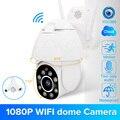 1080P PTZ wi-fi камера 2MP автоматическое отслеживание водонепроницаемый CCTV домашней безопасности ip-камера 4.0X цифровой зум скорость купольная бес...