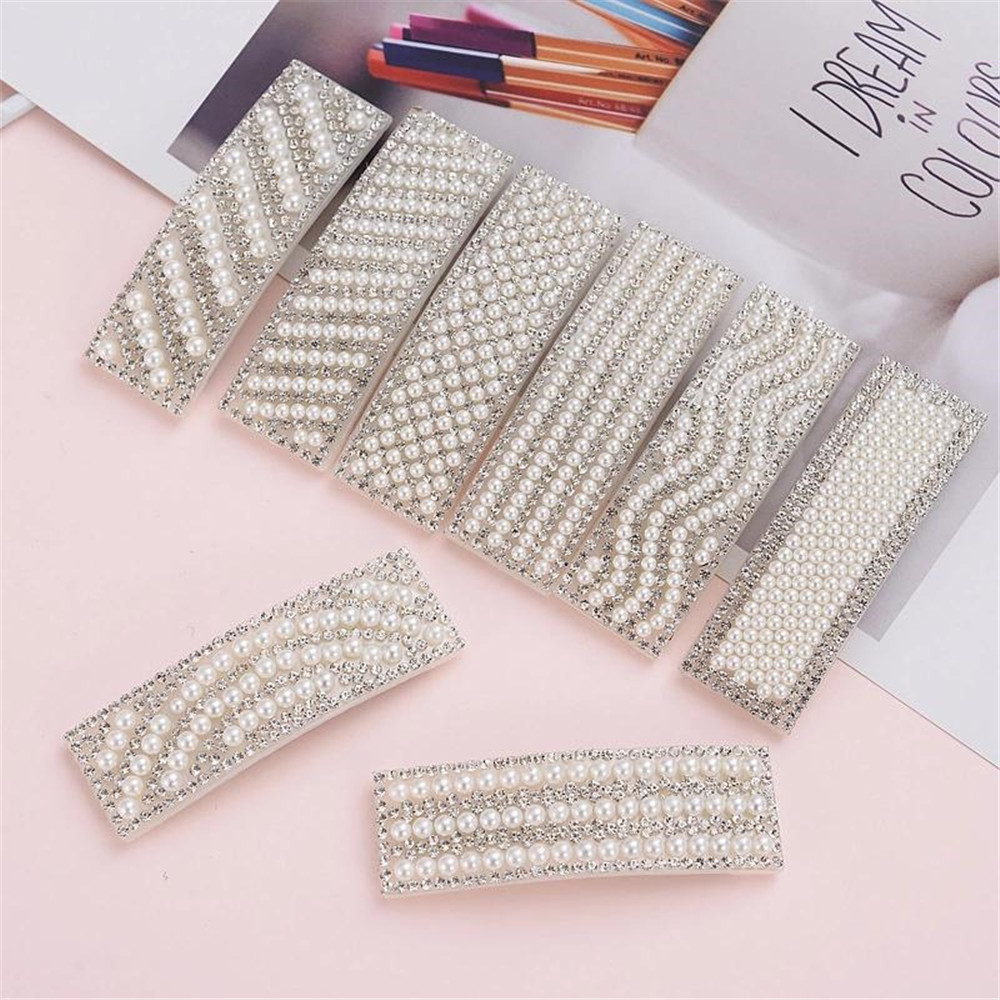 Details about  /Fashion Women Girl Pearl Hair Clip Waterdrop Rectangle Hairpins Hair Accessories