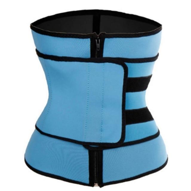 Women Tummy Body Shape Waist Trainer Thermo Sweat Belt Waist Trainer Girdle Corset  Shapewear Fat Burning Fitness Modeling Strap 4