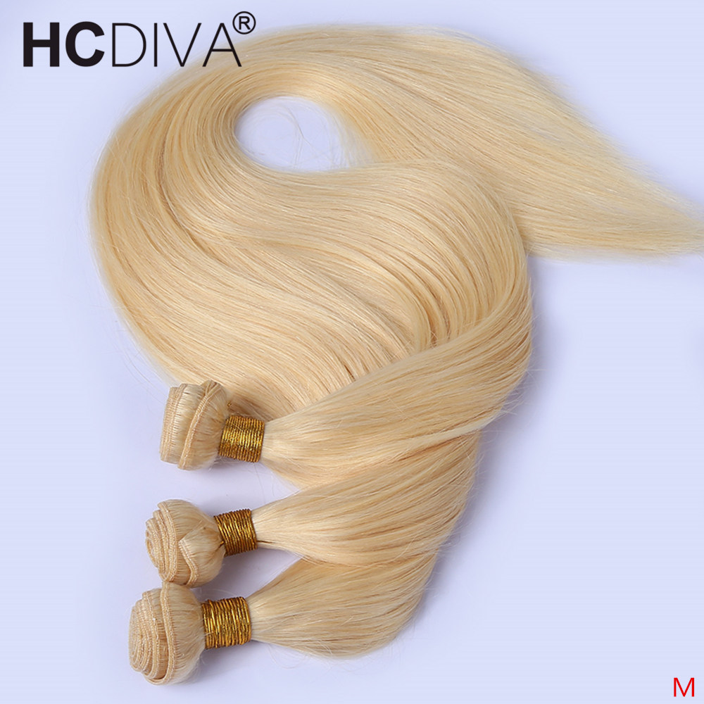 613 Honey Blonde Bundles 1/3/4/10 Bundles Straight Brazilian Hair Weave Bundles 30 32 Inch Straight Remy Human Hair Extensions