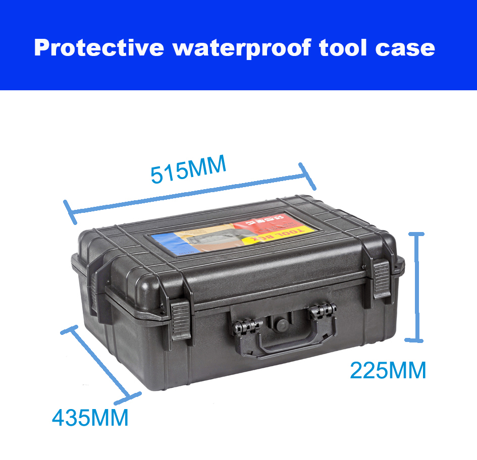 verzegelde waterdichte gereedschapskoffer gereedschapskoffer koffer slagvaste kunststof koffer apparatuur doos camerakoffer meterkast met voorgesneden schuim