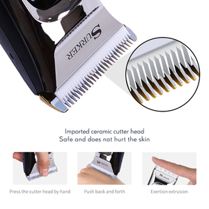 Image 2 - Professional Hair Trimmer for Men Rechargeable Electric Hair Clipper with Limit Combs Length Adjustable Ceramic Blade 35