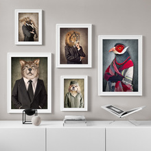 Lion Face Dog Wolf Abstract Elephant Wall Art Print Canvas Painting Nordic Posters And Prints Pictures For Living Room