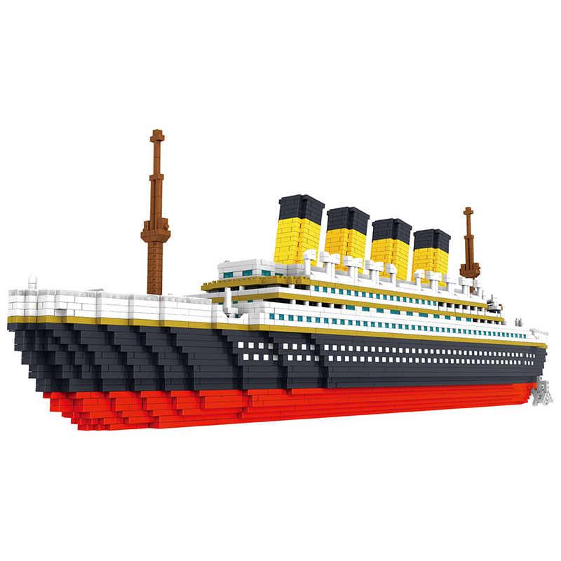 3800 pcs Diamante Mini Blocchi di Costruzione di Modello mattoni nave rms crociera titanic set kit No comaptible legoed città techenic