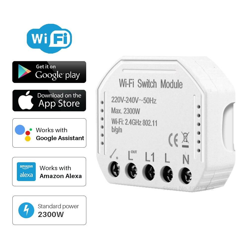 DIY WiFi выключатель модуль автоматизации выключатель света WiFi Tuya Smart Life приложение дистанционное управление совместимый с alexa Echo Google Home