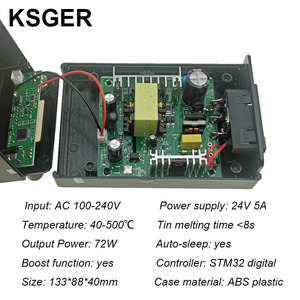 Image 2 - KSGER T12 Soldering Station STM32 Digital Controller ABS Case 907 Soldering Iron Handle Auto sleep Boost Mode HeatIng T12 Tip