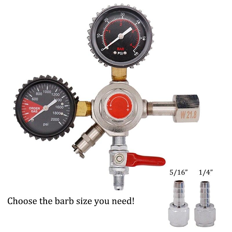 New Homebrew Dual Gauge CO2 Draft Beer Regulator For Draft Beer Kegerators W/ CGA320/W21.8 Inlet & Safety Pressure Relief Valve