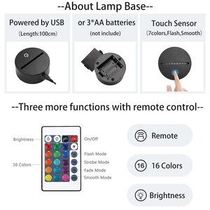 Image 2 - Custom 3dโคมไฟLED Night Light