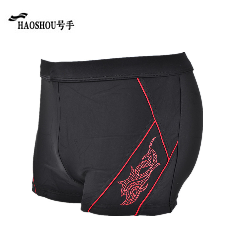 Special Offer HaoShou Swimming Trunks MEN'S Boxers Europe And America Fashion Printed Beach Shorts Hot Springs Large Size Swimmi