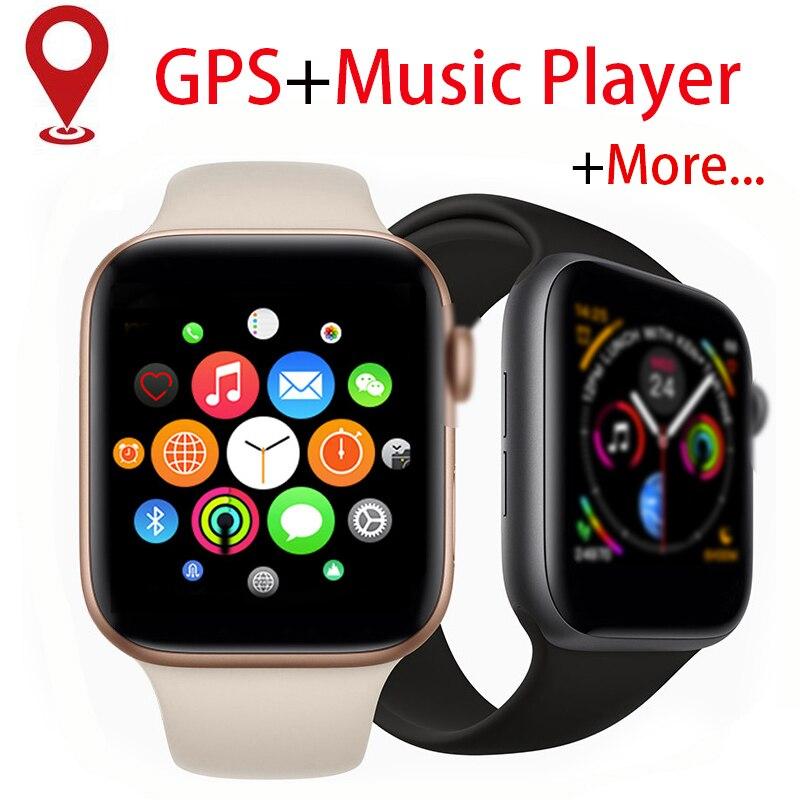 Bracelet de lecteur MP3 de connectivité Bluetooth de Message poussoir de montre intelligente de GPS pour IOS apple iPhone xiaomi traqueur de forme physique de fréquence cardiaque