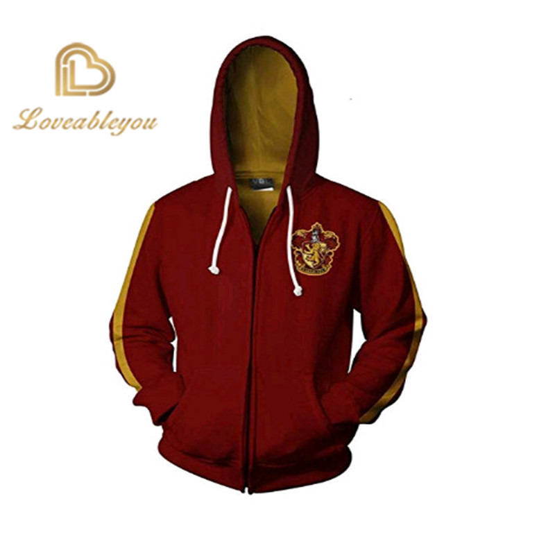 Wizardry Men And Women Gryffindor Slytherin 3d Men Pullover Hoodie Sweatshirt Cosplay Costume Streetwear Hoodies Sweatshirt