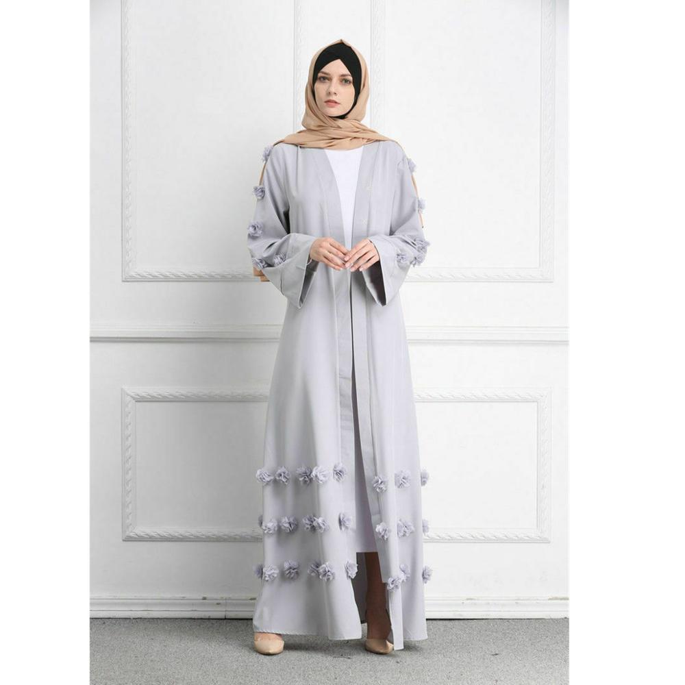 Abaya dubaï Style musulman femmes ouvert avant Cardigan islamique longue robe longue