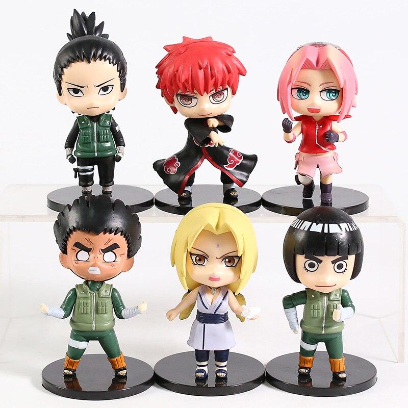 PVC Figure Model Toys Hinata Sakura Gaara Itachi Jiraiya 6pcs//set Naruto Q Ver