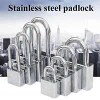 Stainless Steel Waterproof Antirust, Multifunctional Padlock,Anti-Theft Lock Pry Door Lock Unlocked Head Window Lock