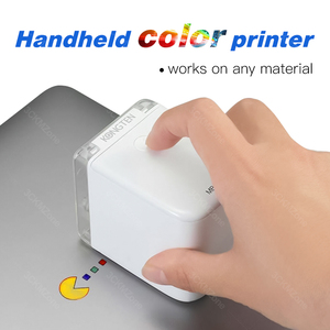 Inkjet Color Printer Portable Mobile Mini Handheld Printer WIFI USB for IOS Android tattoo Logo Printer add Ink Cartridge Print