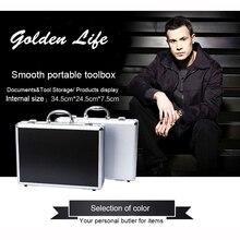 Aluminum Tool case suitcase toolbox password box File box Impact resistant safety case equipment camera case with pre-cut foam  стоимость