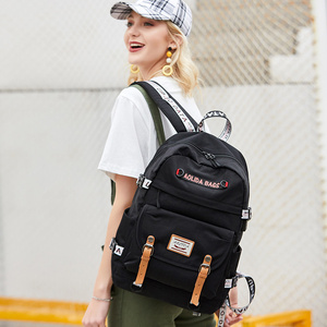 Image 4 - 대용량 대학 가방 여자를위한 학교 배낭 usb 충전 포트와 고등학교 bookbags 레이디 여성 여행 배낭