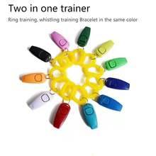 Pet Dog Training Clicker Portable With Wrist Strap 2 In 1 Lightweight Pet Dogs Trainer Aid Guide Whistles Dog Products#Q
