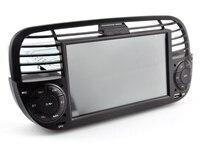 OTOJETA Car GPS Android 9.1 Bluetooth Quad Core Car Dvd media Player FOR FIAT 500 Vehicle Radio Multimedia Black Panel