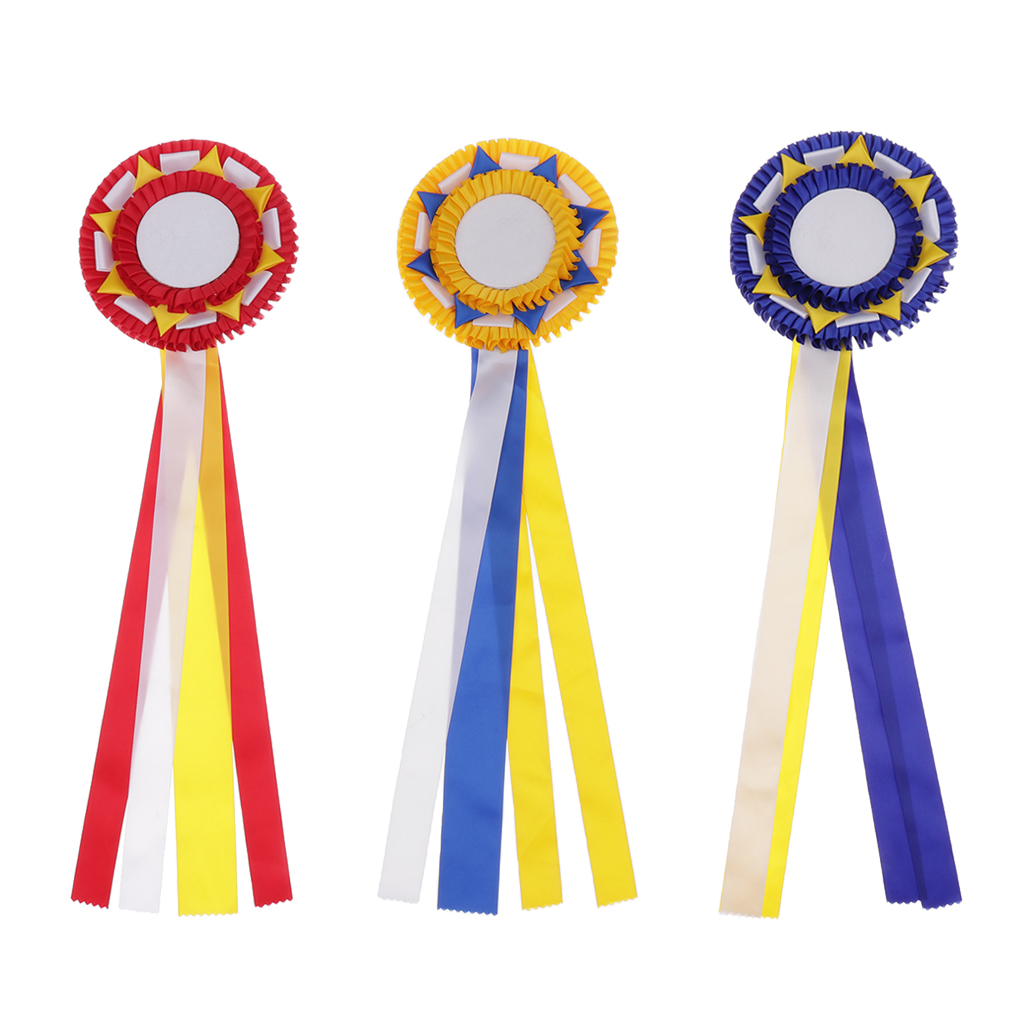 Horse Rosette Award Ribbons Blank Prize Ribbons For Equestrian Supplies High Quality Material