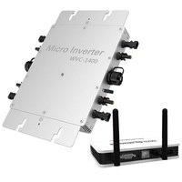 Drahtlose PV Auf Netz-wechselrichter 1200 W  Solar Inverter Micro Inverter mit MPPT funktion  reine Sinus Welle Ausgang