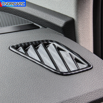 Dashboard Air Outlet Frame Decoration Cover Carbon Fiber Color Stickers For Audi Q5 FY 2018 2019 2020 LHD Interior Trim image