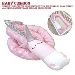 Krippe Stoßfänger Kreative Plüsch Kissen Krippe Stoßfänger Pads Baby Krippe Liner Cartoon Tier Kissen Bett Kinder Wiege Neugeborenen