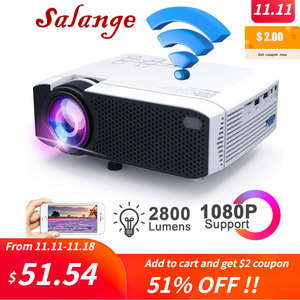 Image 1 - Salange E400S LED Projector, Mini Projector for smartphone, Wireless or USB Mirror For iPhone Android phone, Wifi Video Beamer