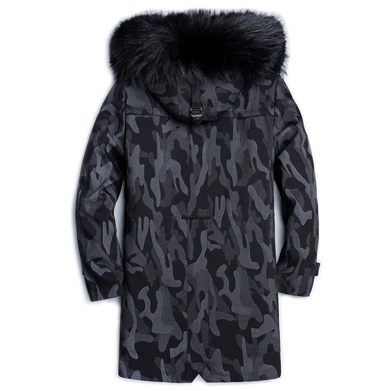 2020 Coat Mink Liner Fox Collar Hooded Real Fur Parka Plus Size Winter Jacket Men Casaco 3488 YY262