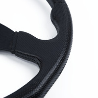 350mm Car PU Leather Steering Wheels Flats For MOMO Racing OMP Rally Stitch