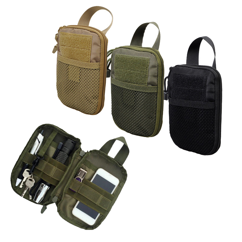 Tactical MOLLE Phone Pouch Utility EDC Bag Ammo Holder Military Waist Accessory Pack Hunting Gadget Divider Organizer Storager