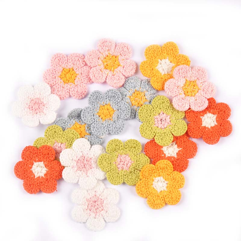 20 шт. 32 мм Цветочная вышивка, аппликации ручной работы «сделай сам», швейные принадлежности, нашивки для одежды, наклейки, украшения C3011