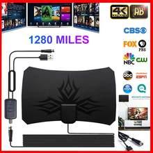 Antenne numérique HDTV 2020 Miles 4K, 28db, Gain aérien, intérieure, amplifiée, pour la diffusion sur les chaînes locales, nouveauté 1280